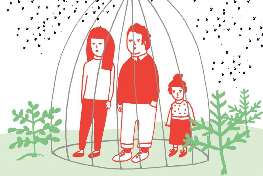 Les guêpes estivales à... (Illustration Charlotte Demers-Labrecque, La Presse)