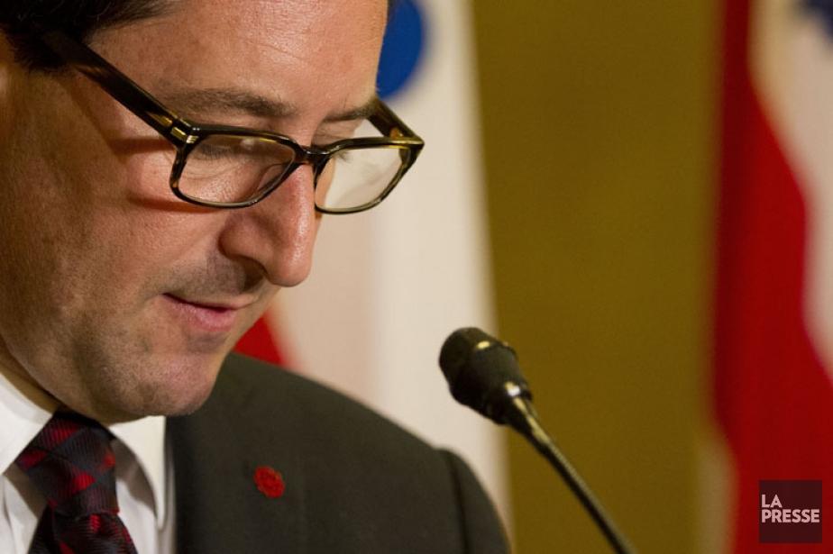 Michael Applebaum a donné un bref point de... (Photo: Olivier Jean, La Presse)