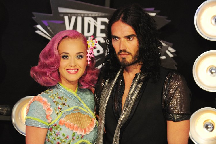 Katy Perry et Russell Brand à Los Angeles... (Photo: AFP)