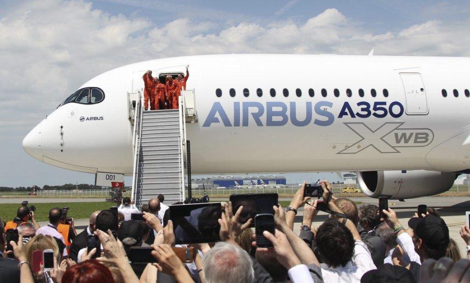 Unlong-courrier A350 d'Airbus.... (Photo Associated Press)