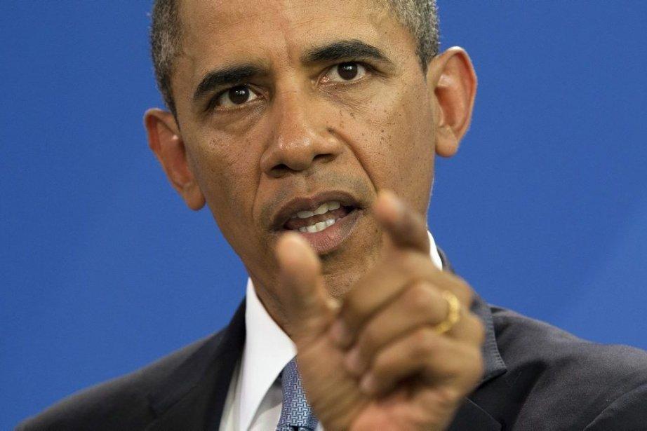 Le président américain Barack Obama.... (Photo Evan Vucci, AP)