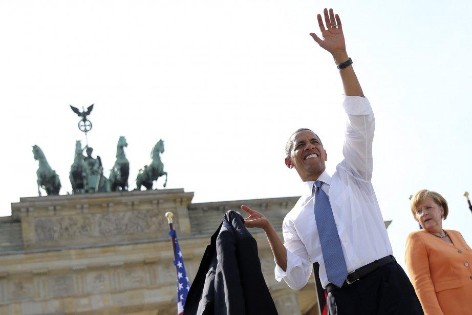 Barack Obama et Angela Merkel à Berlin.... (Photo REUTERS)