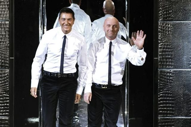 Domenico Dolce (à gauche) et Stefano Gabbana en... (Photo AFP)