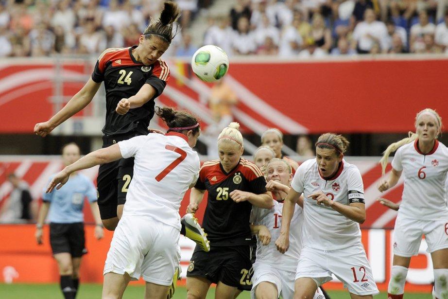 Leonie Maier a inscrit le seul but, mercredi en... (Photo Martin Meissner, AP)