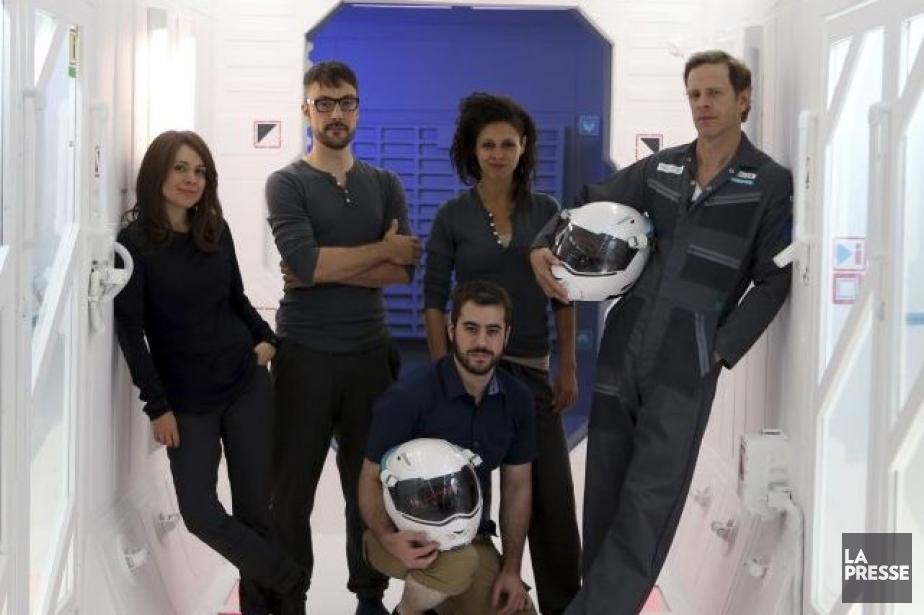 Julie Perreault, Julien Deschamps Jolin, Nadia Essadiqi et... (Photo: Martin Chamberland, La Presse)