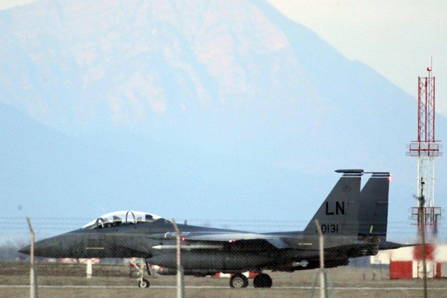 Un avion F-15 de l'armée américaine.... (PHOTO ALESSANDRO GAROFALO, Archives REUTERS)