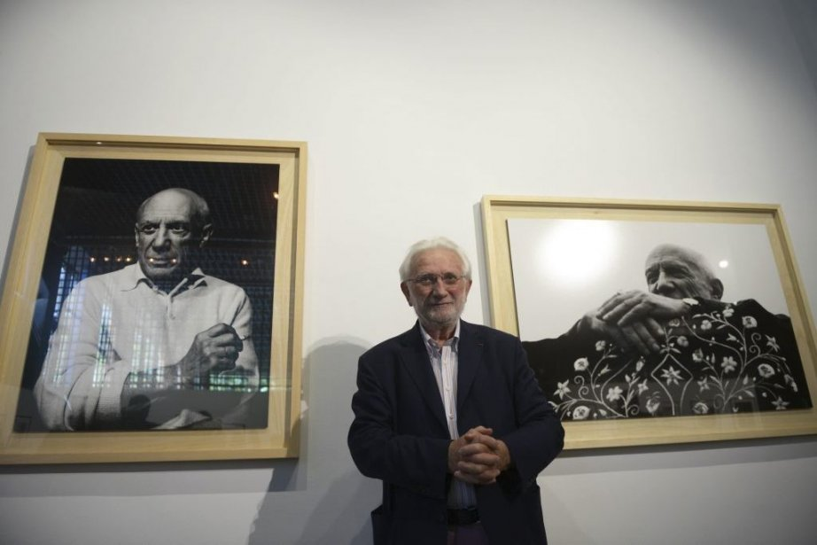 Le photographe Lucien Clergue devant quelques-unes de ses... (Photo: AFP)