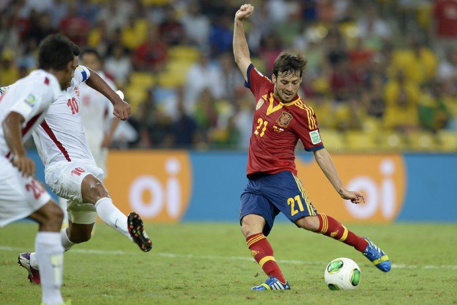 Le joueur David Silva lors du match du... (PHOTO LLUIS GENE, AFP)