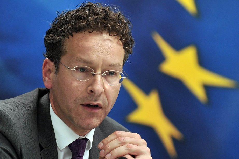 Leprésident de l'Eurogroupe, Jeroen Dijsselbloem.... (PHOTO LOUISA GOULIAMAKI, AFP)