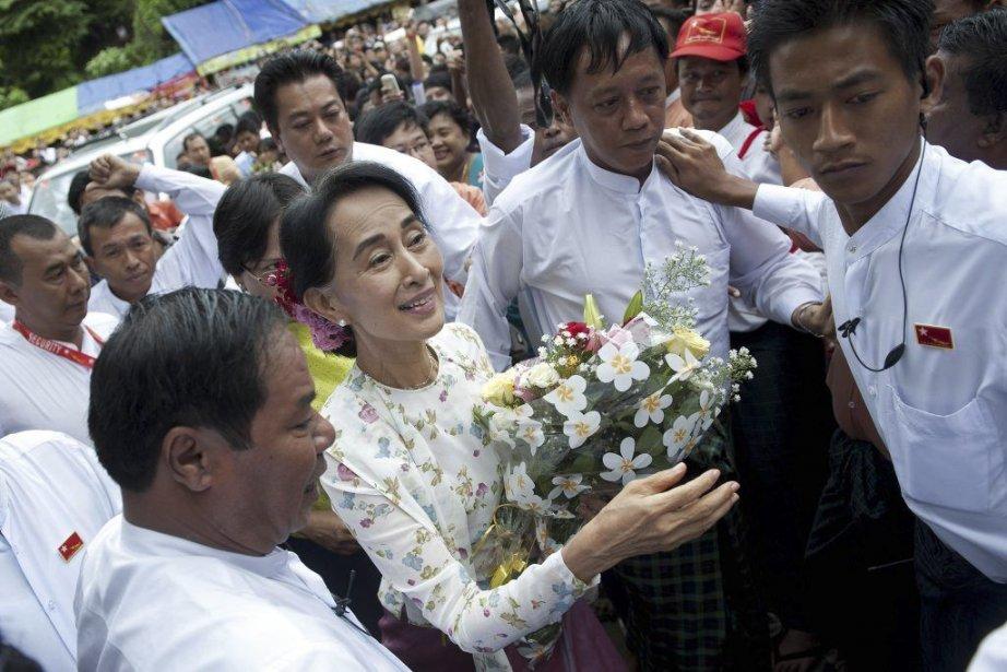 «C'est inéquitable. Pourquoi seulement les femmes? Vous ne... (PHOTO YE AUNG THU, AFP)