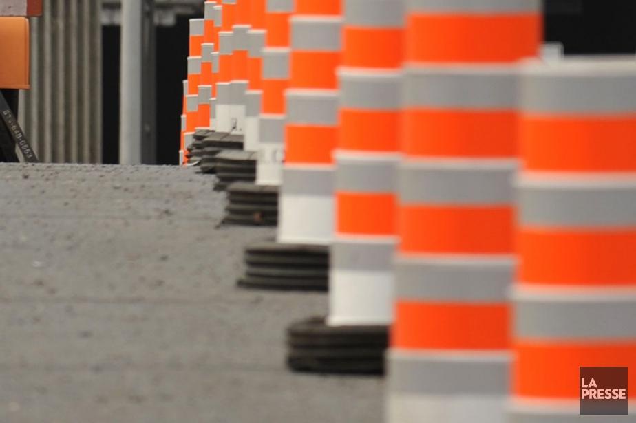 Même si les chantiers sont déserts, les automobilistes... (Photo Bernard Brault, Archives La Presse)