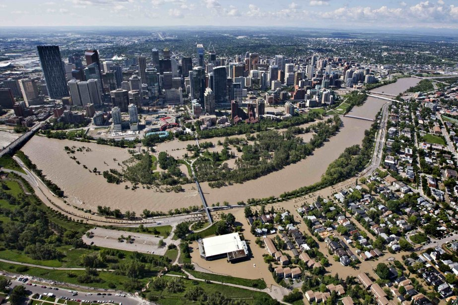 Vue aérienne de Calgary.... (Photo Andy Clark,Reuters)