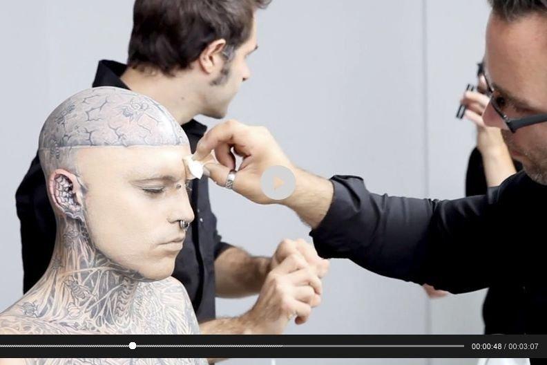 La vidéo de Dermablend où Zombie Boy masque... (Photo fournie par Vichy)