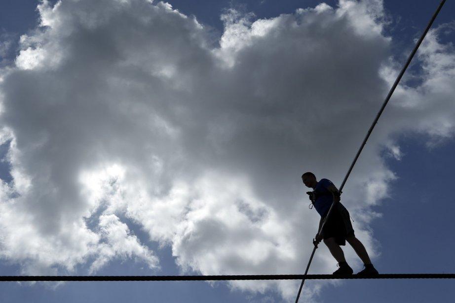 Contrairement à son exploit au-dessus des chutes du... (Photo Chris O'Meara, AP)
