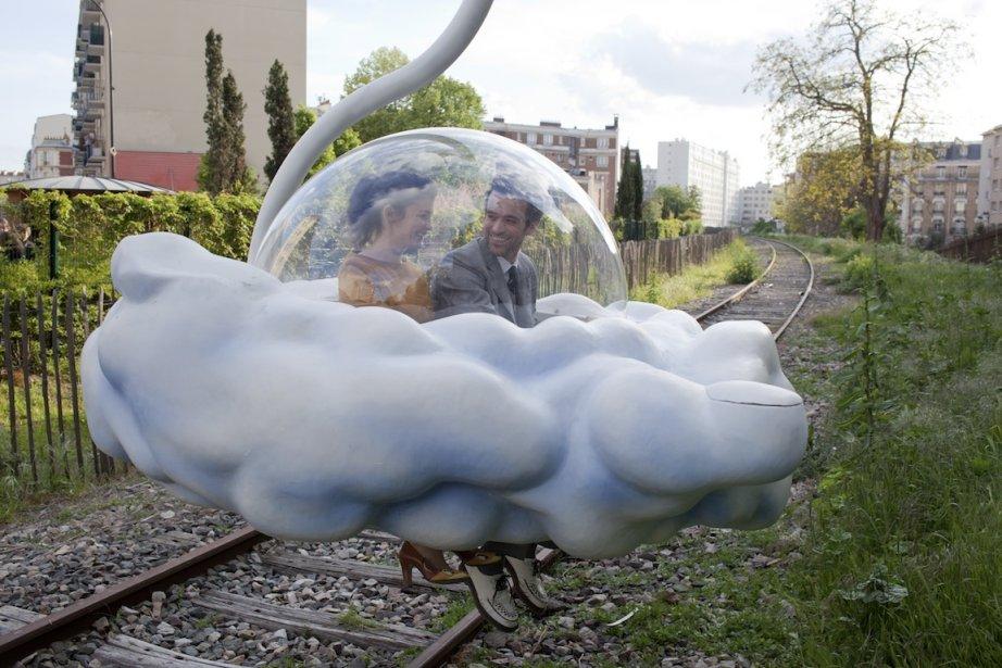 Audrey Tautou et Romain Duris dansL'Écume des jours.... (PHOTO FOURNIE PAR FILMS SÉVILLE)