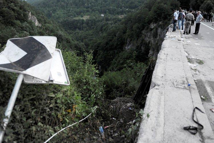 La pente à cet endroit est très abrupte... (Photo: AFP)