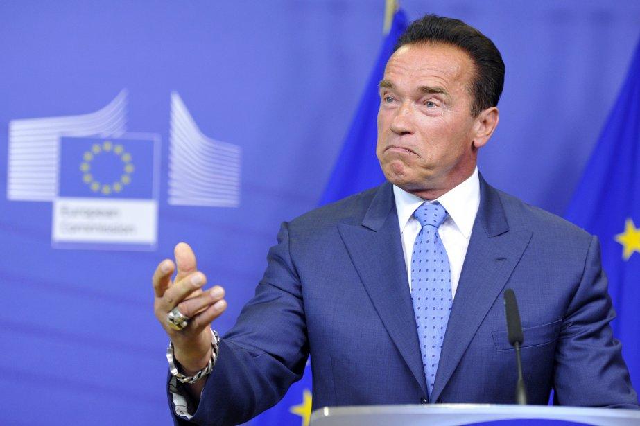 Arnold Schwarzenegger est venu à Bruxelles participer à... (PHOTO GEORGES GOBET, AFP)