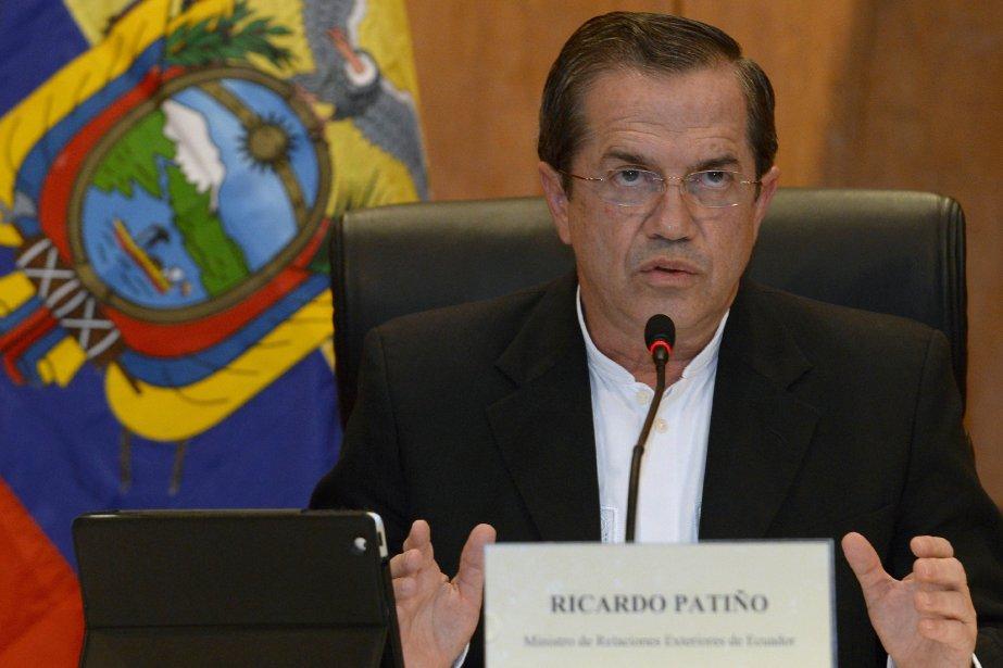 Le ministre équatorien des Affaires étrangères, Ricardo Patiño.... (Photo HOANG DINH NAM, AFP)