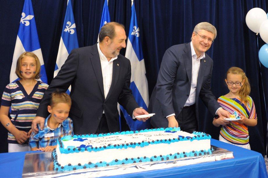 Stephen Harper a prononcé une allocution au Centre... (Photo Gimmy Desbiens, La Presse Canadienne)