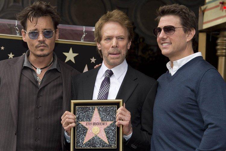 Jerry Bruckheimer était entouré de Johnny Depp et... (Photo: AFP)