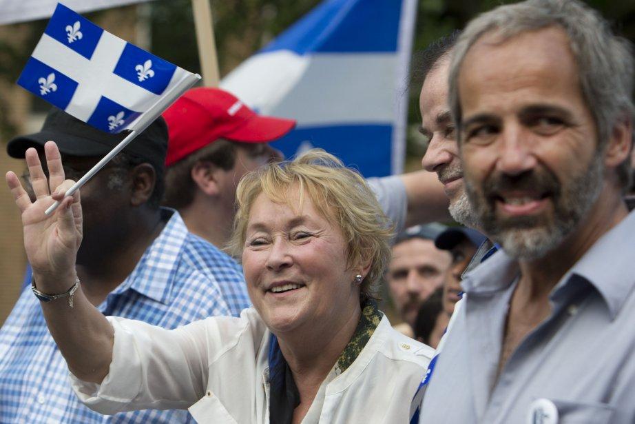 La première ministre Pauline Marois accompagnée du chef du Bloc québécois, Daniel Paillé. | 24 juin 2013