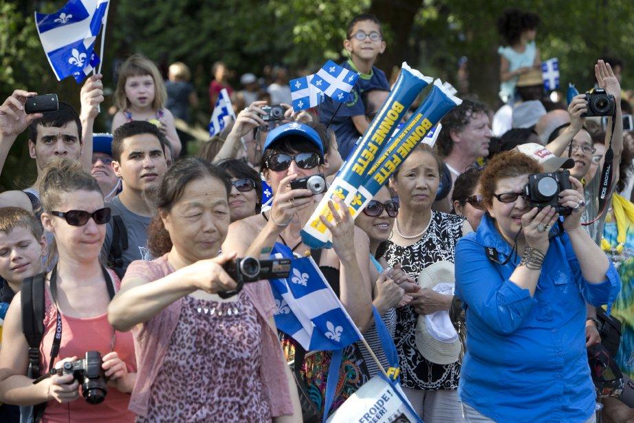 Parmi la foule, plusieurs citoyens nouvellement arrivés au Québec en étaient à leurs premières célébrations de la Fête nationale. | 24 juin 2013