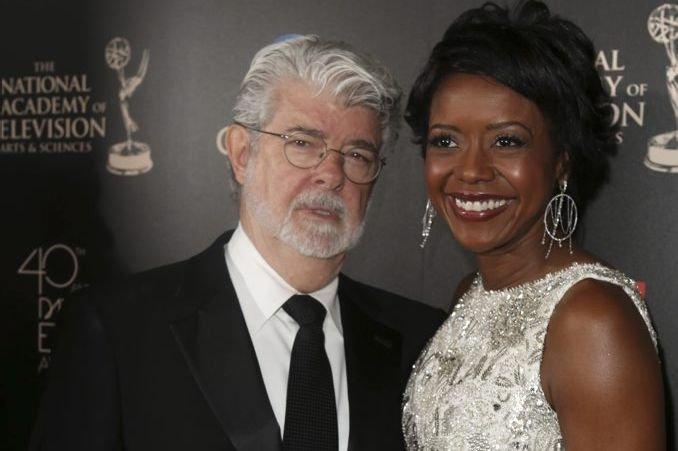 George Lucas et Mellody Hobson photographiés le 16... (Photo: AP)