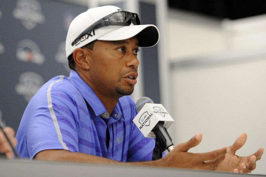 Woods a rencontré les médias, mercredi, en marge... (PHOTO NICK WASS, AP)