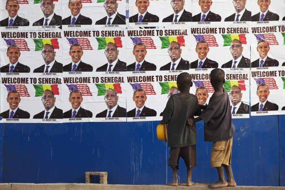 Le président Obama est arrivé à Dakar mercredi... (PHOTO JOE PENNEY, REUTERS)