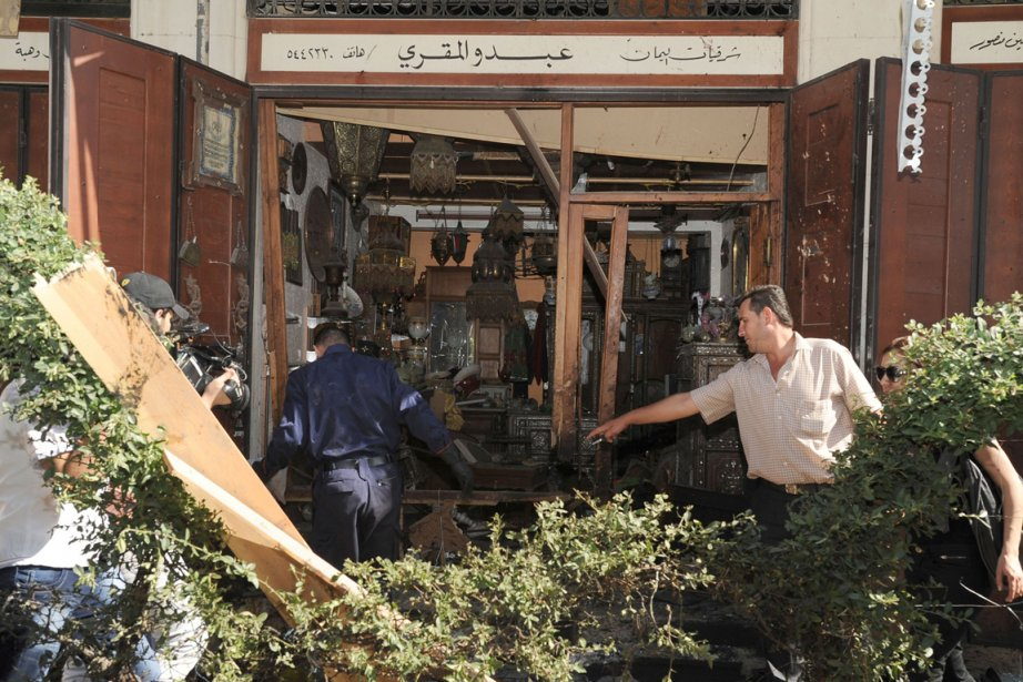 La télévision a affirmé que l'attentat s'était produit... (PHOTO AFP/SANA)