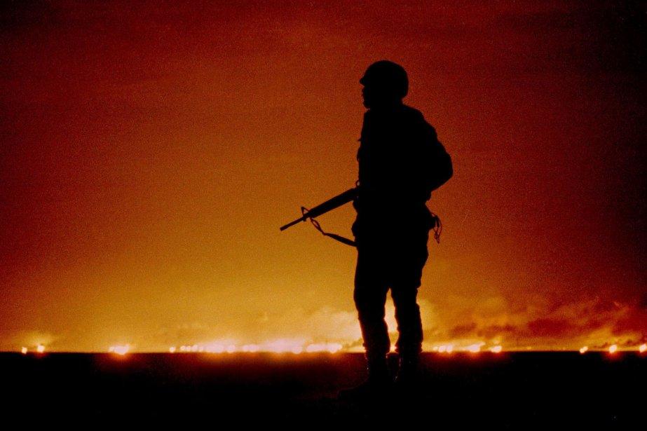 Un soldat américain lors de l'opération Desert Storm.... (Photo archives Reuters)