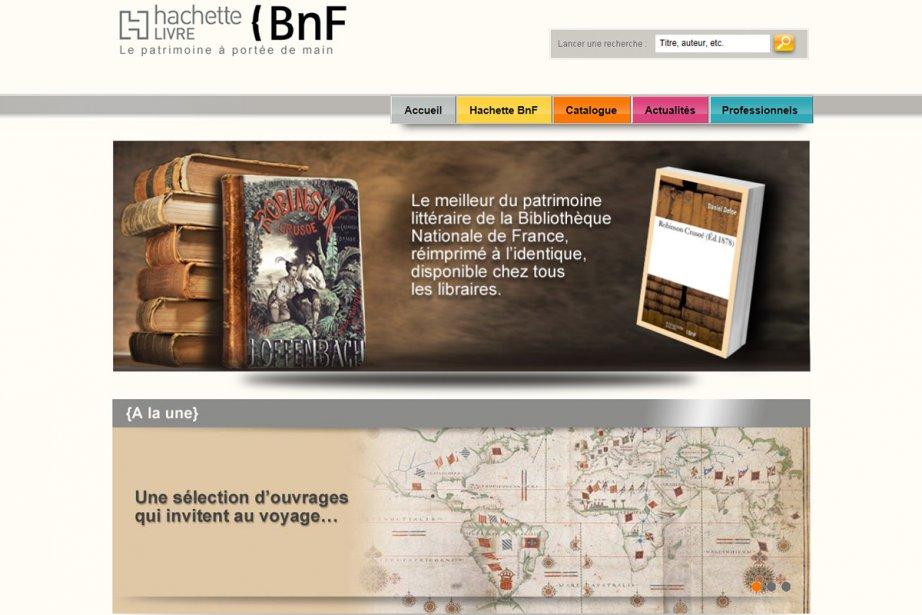 Un site web dédié, www.hachettebnf.fr, lancé mercredi soir,...