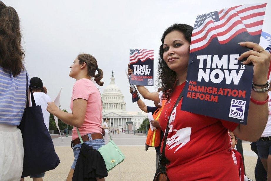 L'adoption de la réforme de l'immigration prévue lors... (PHOTO JONATHAN ERNST, REUTERS)