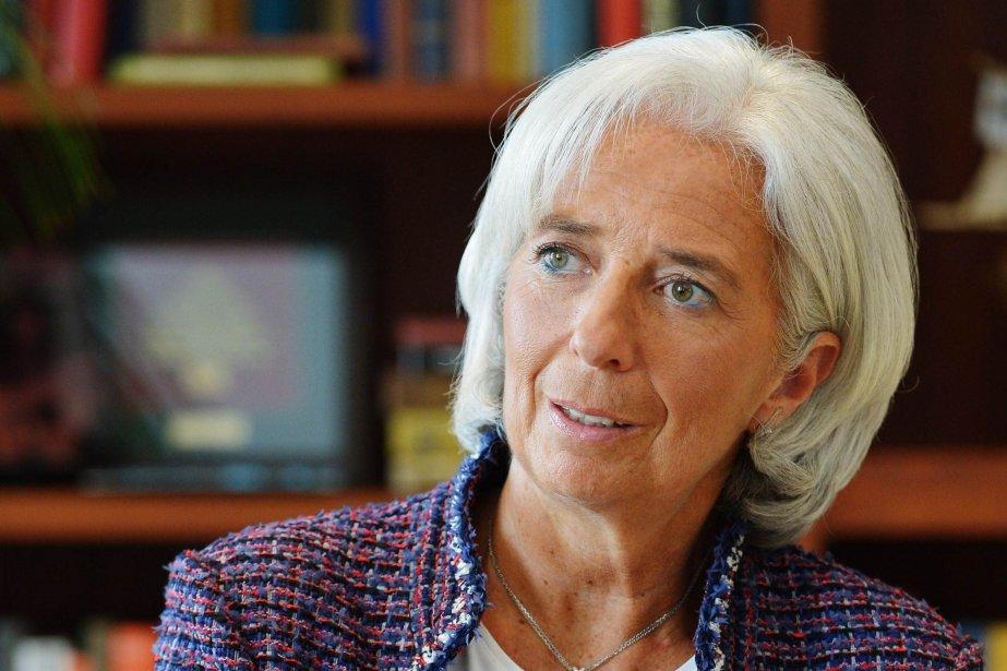 La directrice générale du Fonds monétaire international, Christine... (PHOTO MANDEL NGAN, AFP)