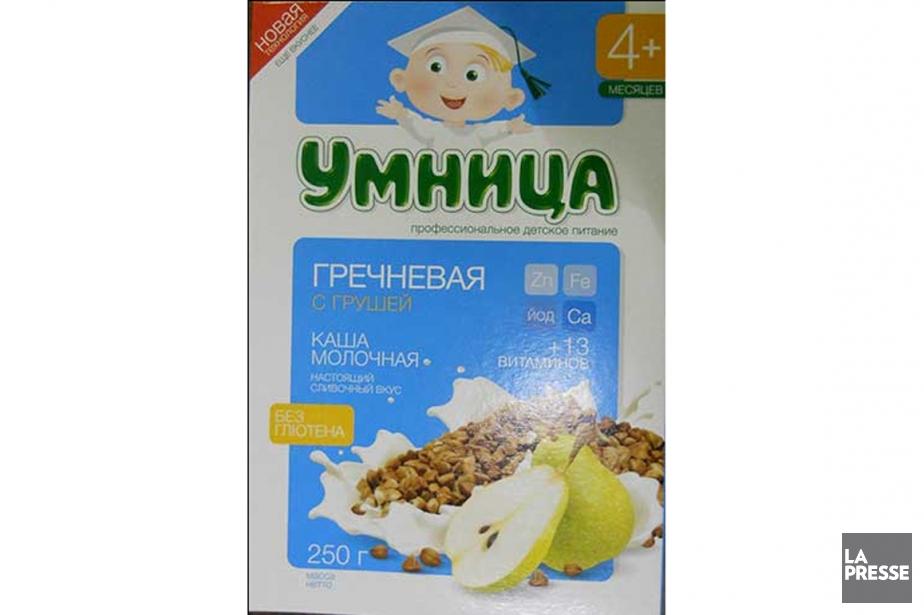 Ces céréales pour bébé, importées de Russie, sont... (Photo fournie par l'ACIA)