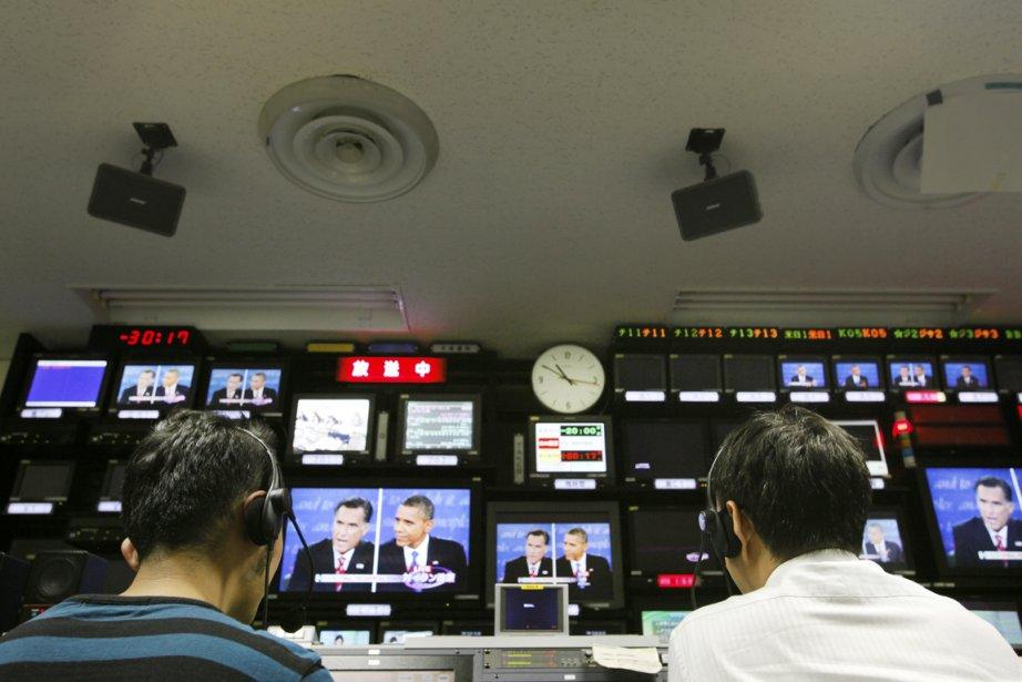 La couverture des débats présidentiels américains, dans une... (PHOTO KOSUKE OKAHARA, THE NEW YORK TIMES)