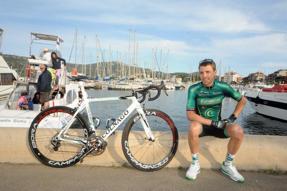 David Veilleux sur le port de Porto-Vecchio.... (Photo : James Startt, Agence Zoom)