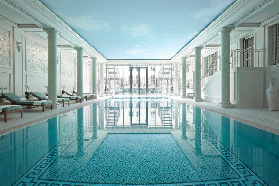 La piscine de l'Espace Bien-Etre du Shangri-La Paris... (Photo fournie par le Shangri-La Paris)