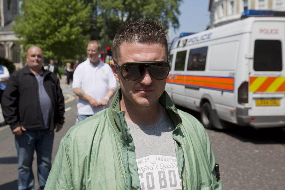 Le leader du groupe britannique d'extrême droite English... (PHOTO NEIL HALL, REUTERS)