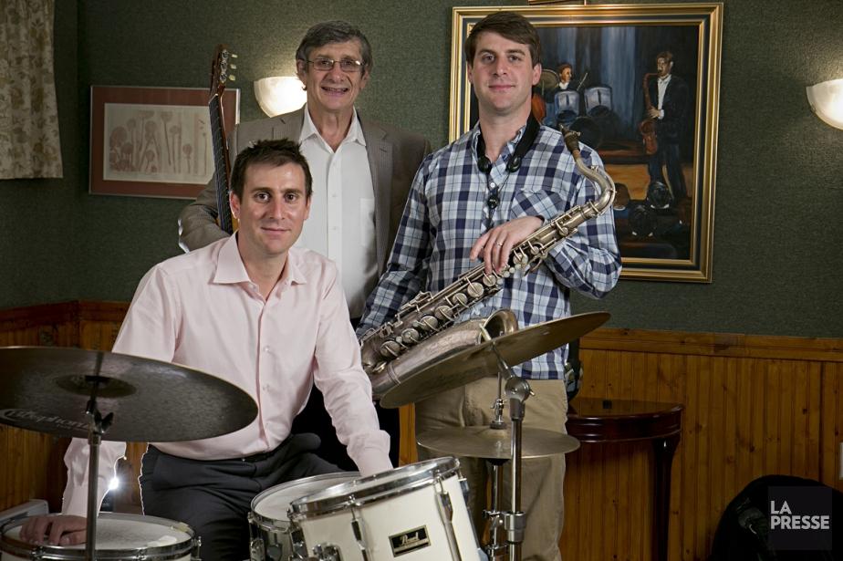 Les jazzmen de la famille Doxas dans leur... (Photo David Boily, La Presse)