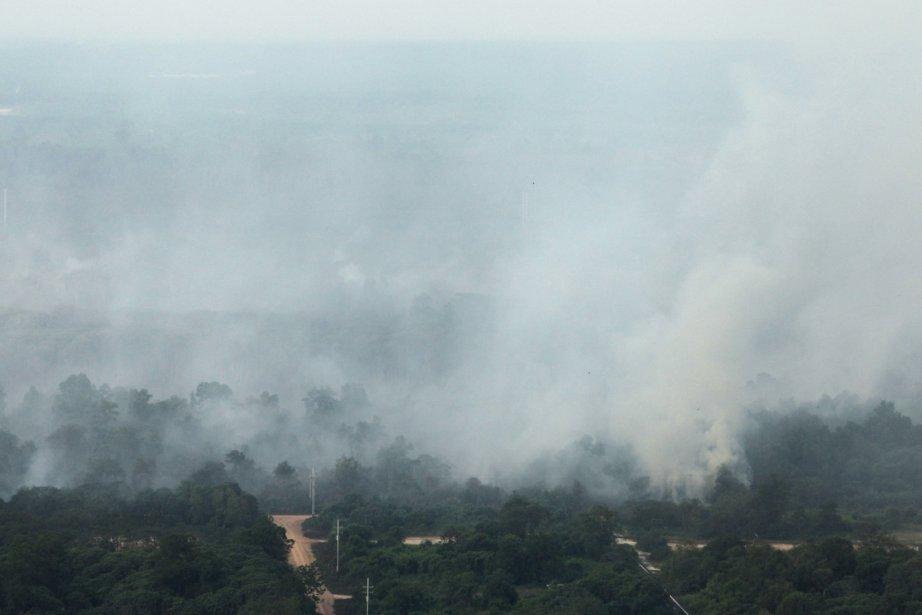 Le nuage de fumée est un problème qui... (PHOTO REUTERS)