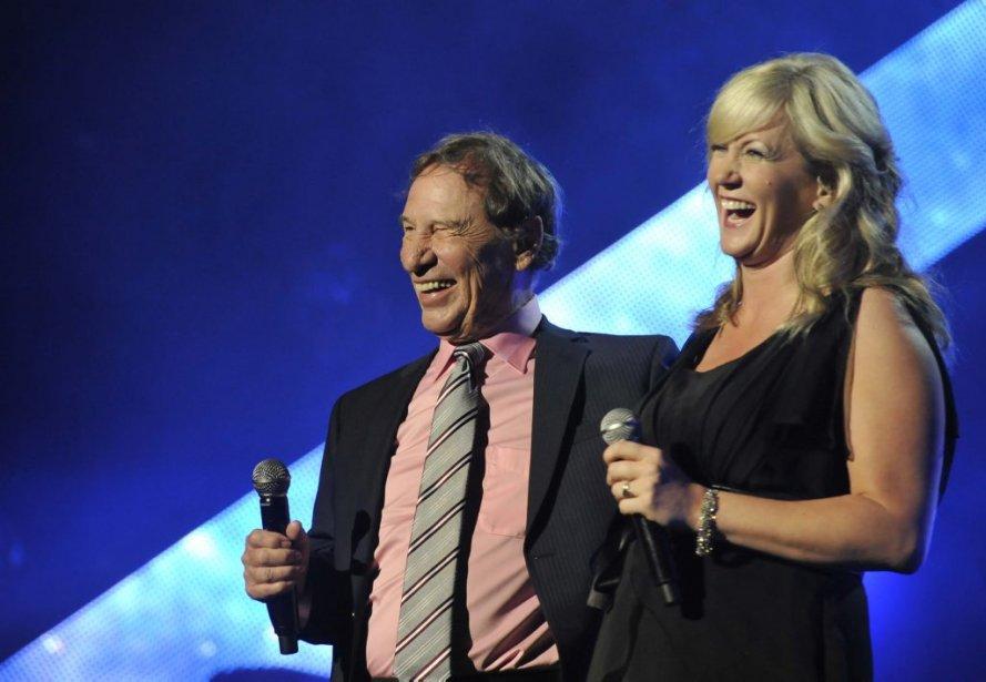 Jean-Pierre Ferland et sa compagne Julie-Anne Saumure. (Martin Roy, LeDroit)
