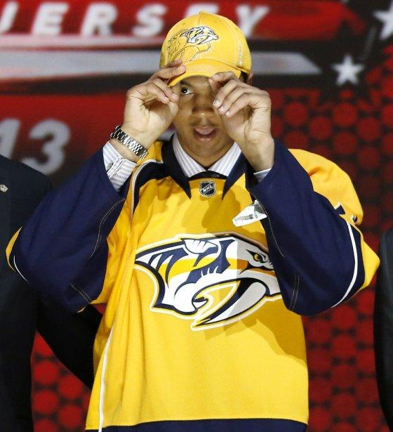 Les Predators de Nashville ont pu repêcher Seth Jones au quatrième rang, lui qui était considéré comme le meilleur espoir par la Centrale de recrutement de la LNH. (PHOTO BRENDAN MCDERMID, REUTERS)