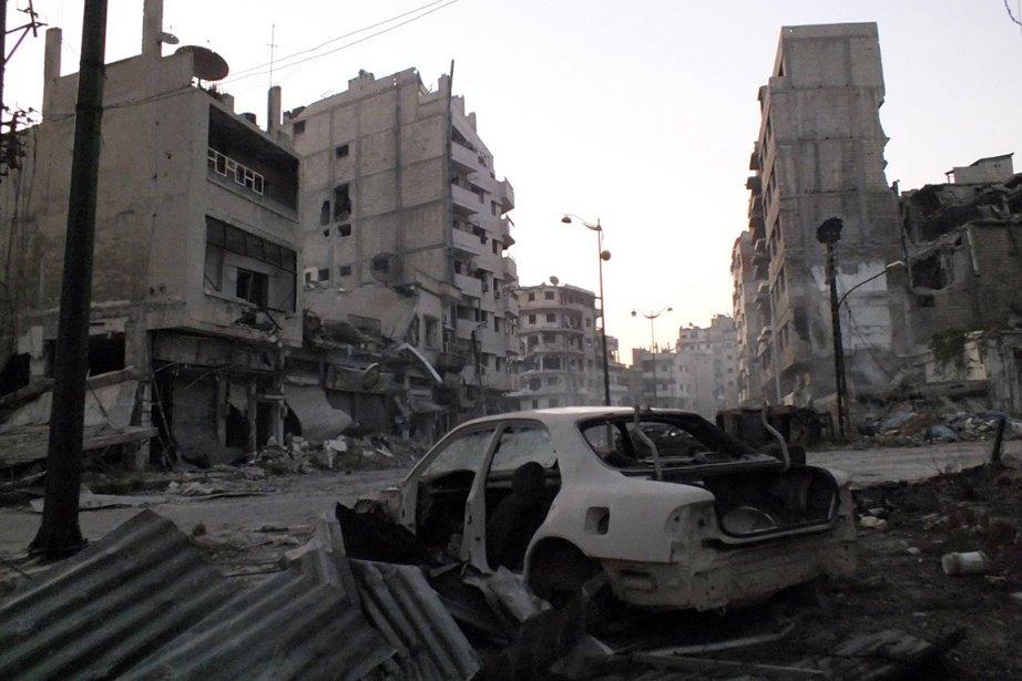 Scène de destruction à Homs.... (Photo: Reuters)