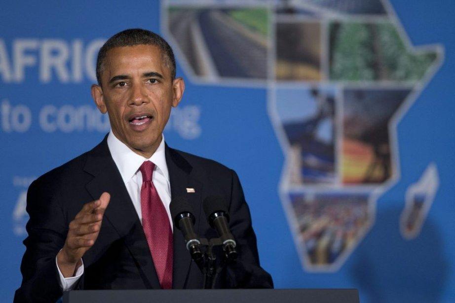 «Je l'ai dit à travers l'Afrique, nous envisageons... (Photo Evan Vucci, AP)