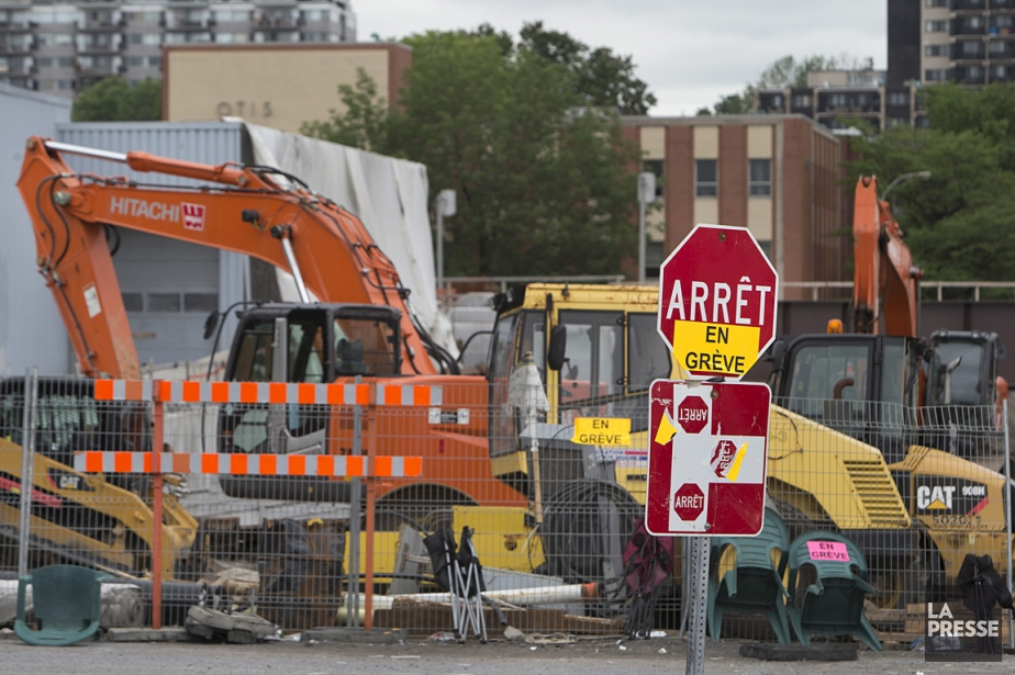 Le chantier du CHUM, au coin des rues... (Photo: Robert Skinner, La Presse)