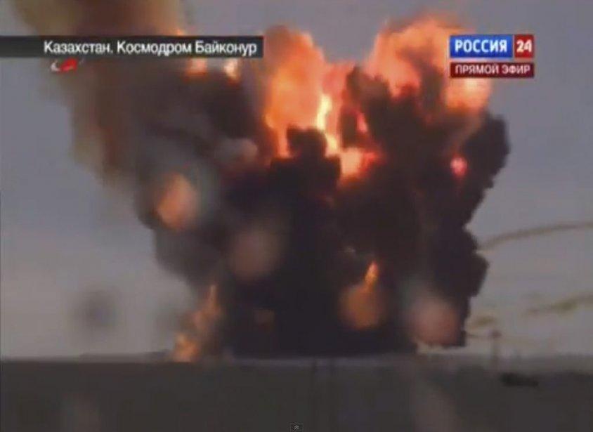 L'accident a provoqué une importante fuite de combustible dans l'atmosphère, le lanceur transportant environ 600 tonnes d'heptyle, d'amyle et de kérosène, selon le patron de l'agence spatiale kazakhe Kazkosmos, Talgat Moussabaïev. | 2 juillet 2013