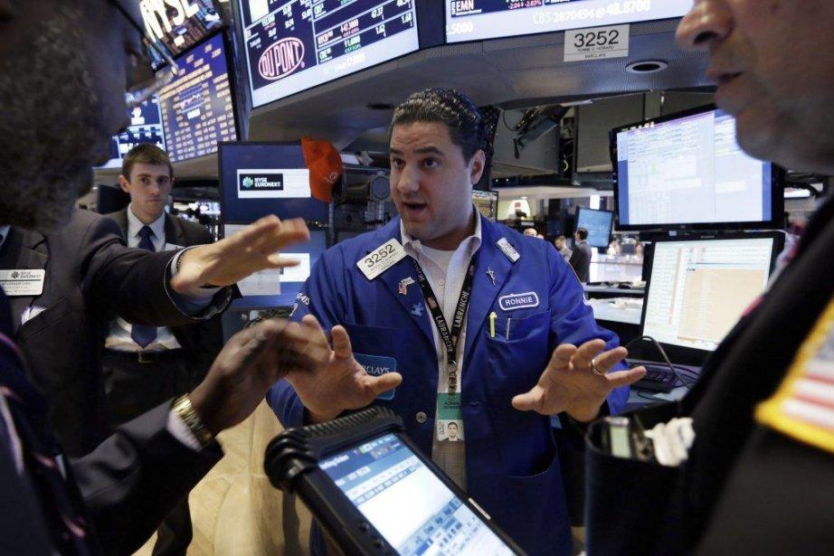 La Bourse de New York avait achevé en... (Photo Richard Drew, AP)