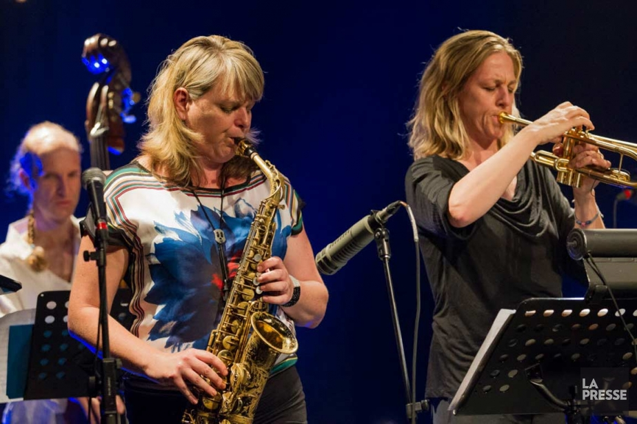 Les soeurs Christine, à gauche, et Ingrid Jensen... (PHOTO EDOUARD PLANTE-FRÉCHETTE, LA PRESSE)