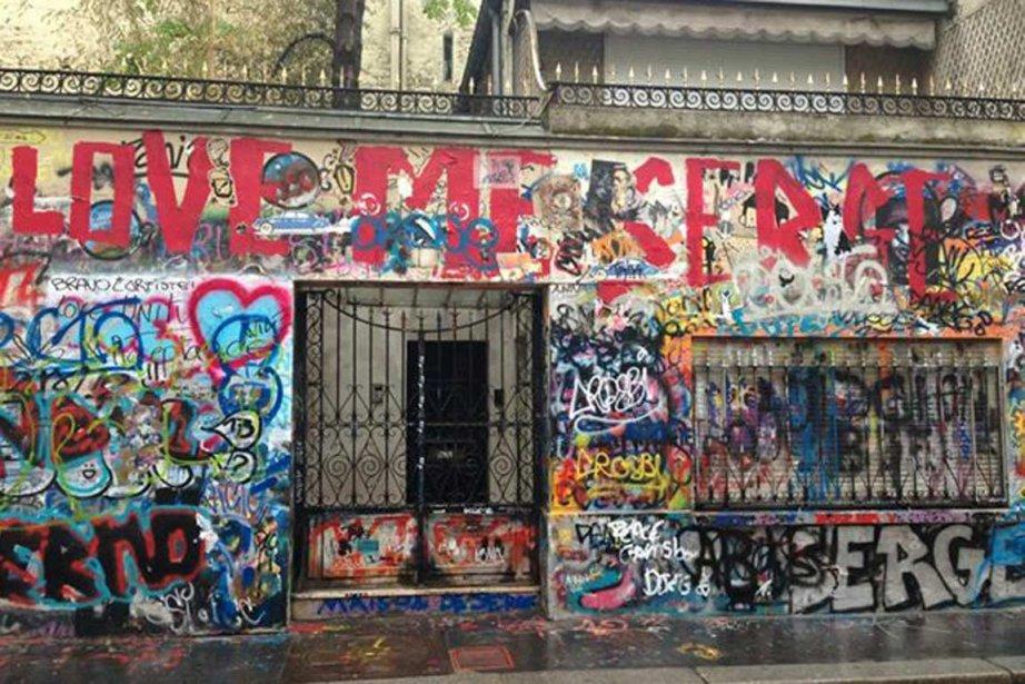 La maison de Serge Gainsbourg, rue de Verneuil,... (PHOTO PRISE SUR FACEBOOK)